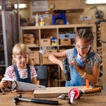 Girls In Stem Woodworking 1