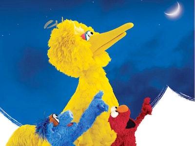 Big Bird Elmo Moon Card