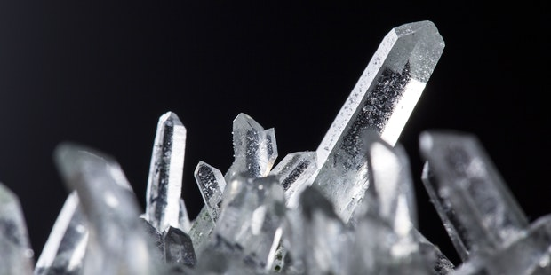 Crystal formation up close