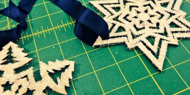 Glitter Snowflake Ornaments