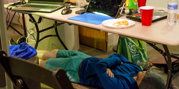 Hackathonclt Man Sleeping