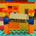 Lego people building