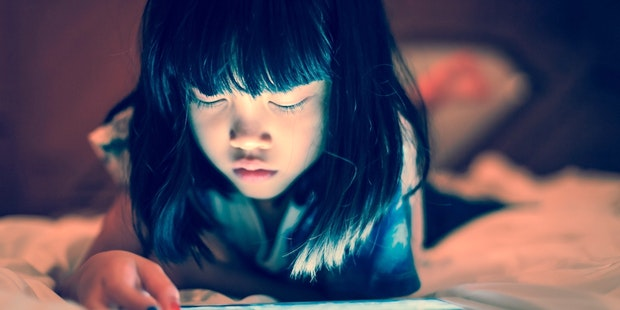 Young girl on tablet