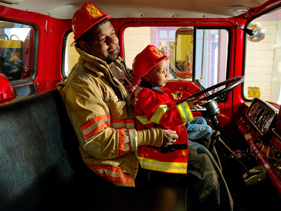Exhibitions I Can Work Firetruck Dad