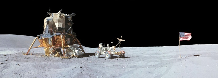 Apollo lunar module lunar leg 1
